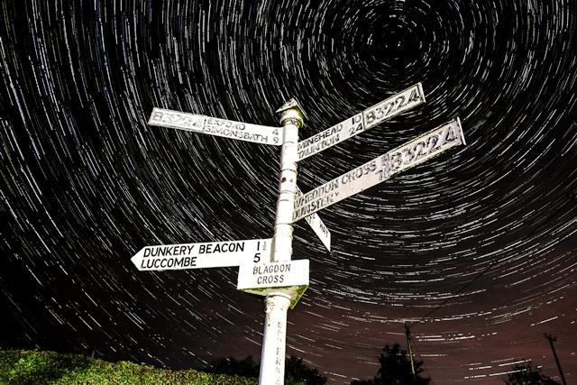 Exmoor Blagdon_Cross_Startrails - image darkskytelescopehire.co.uk