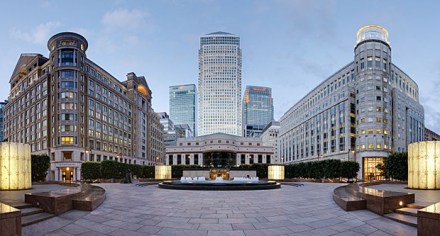 Cabot Square, Canary Wharf London - photo by David Illife
