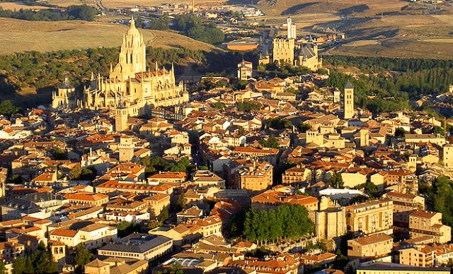 Segovia Spain - aerial view by McPolu