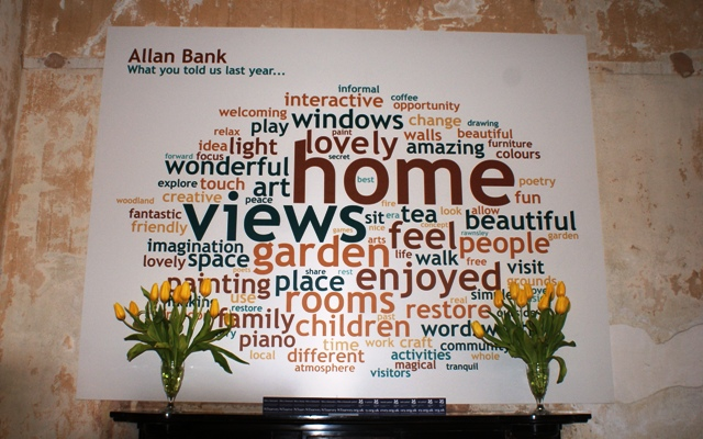 Allan Bank Tweetcloud - photo by Zoe Dawes