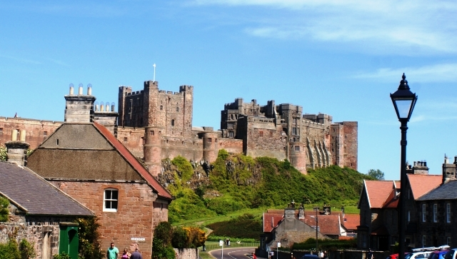 Bamburgh village and castle, Northumberland