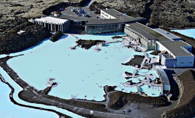  Aerial view of the Blue Lagoon