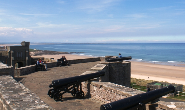 The Battery, Bamburgh Castle, Northumberland - image Zoe Dawes