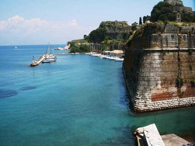 Corfu Harbour walls