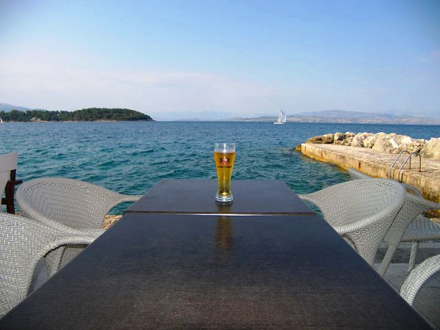 Relaxing by the sea in Corfu