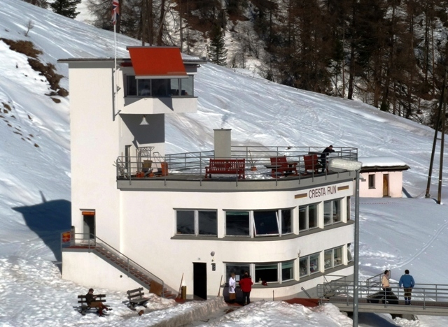 Cresta Run Club House St Moritz - by Zoe Dawes