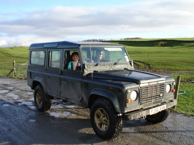  Zo Dawes driving Land Rover