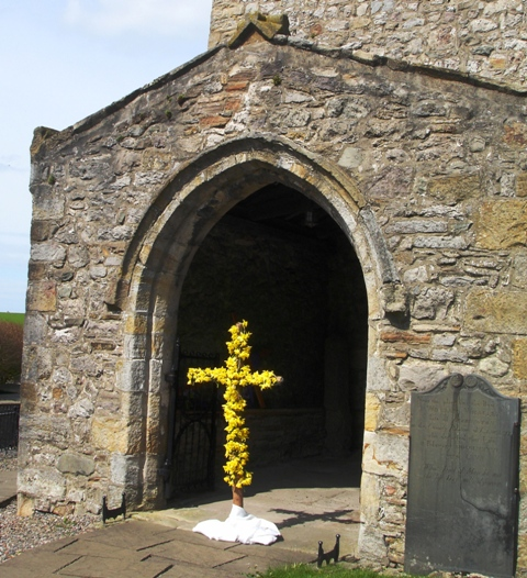 Easter Cross at Heversham Church