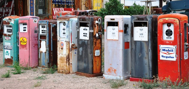 Gas pumps at Classical Gas Museum, Embudo - photo Steve Collins
