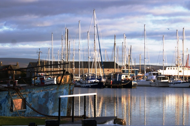 Glasson Dock boats - by Zoe Dawes