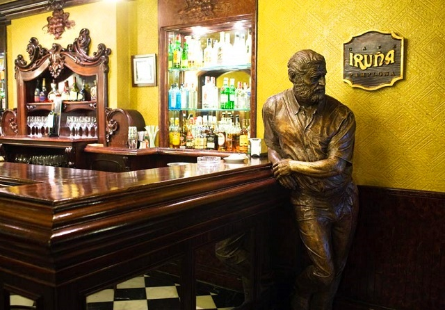 Hemingway - Cafe Iruna Pamplona