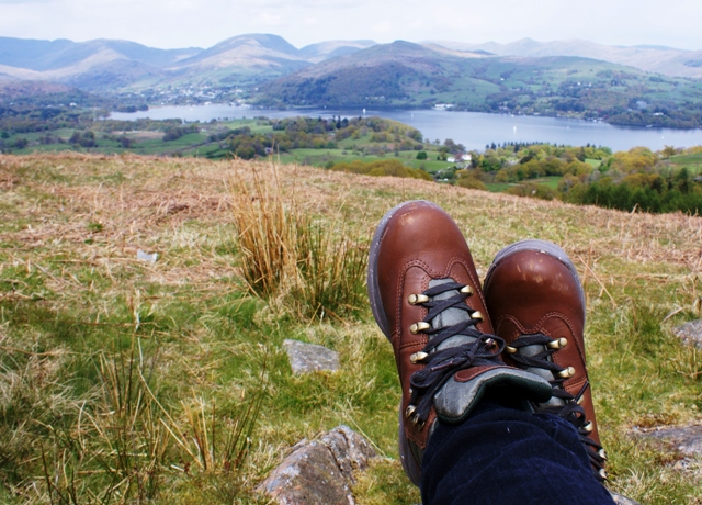 Walking boots on Latterbarrow