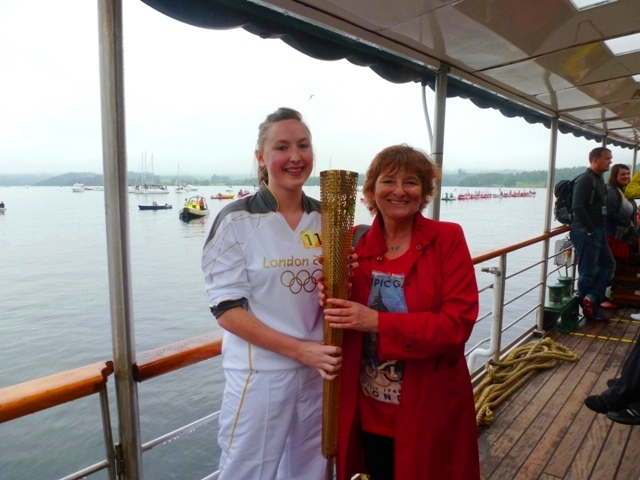 My proudest moment - holding the Olympic Torch with Jan Booth
