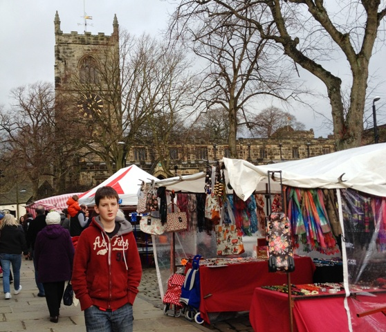 Skipton Market and Holy Trinity Church by Zoe Dawes