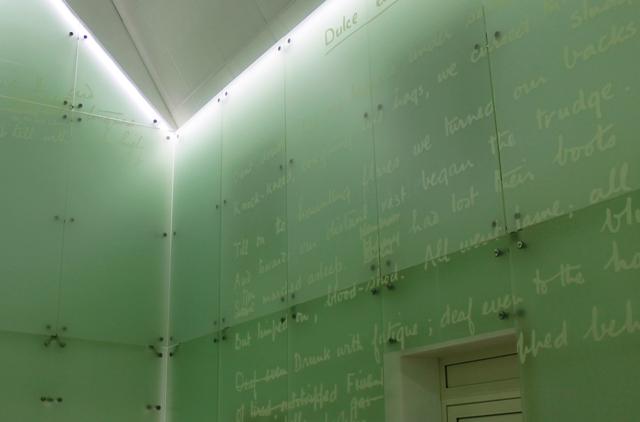 'Dulce et Decorum Est' Wilfred Owen. Inside Maison Forestiere - photo Zoe Dawes