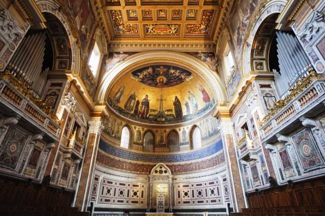 Interior of San Giovanni in Laterano