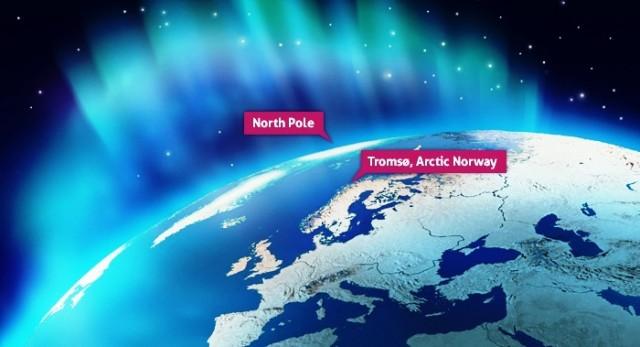 NNorthern Lights map Tromso - image Guide Gunnar