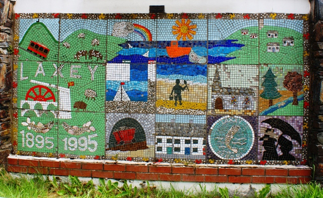 Isle of Man mosaic at Laxey - by Zoe Dawes