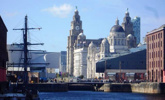 Liverpool Liver Building and Docks - by Zoe Dawes