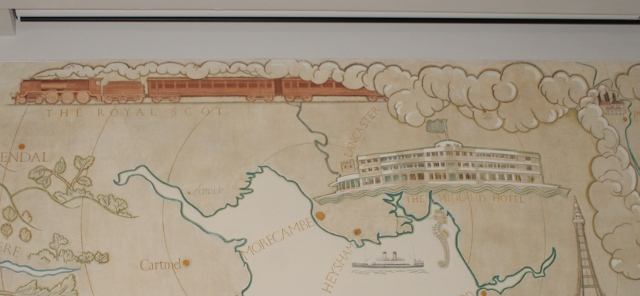 Eric Gill mural of Lancashire coast & Morecambe Bay