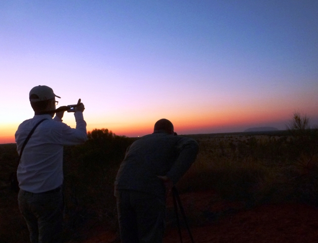 Photographers Uluru sunrise