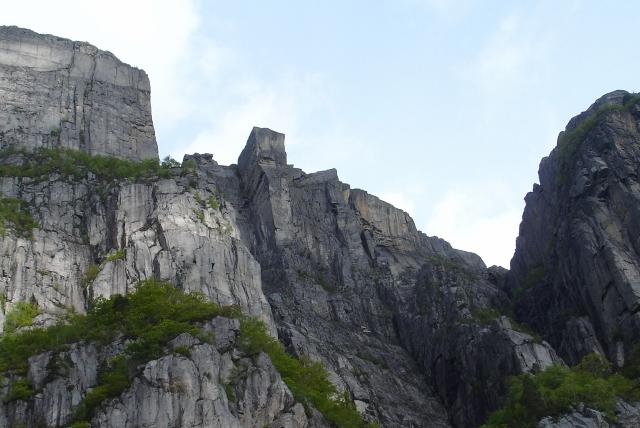 stavanger pulpit rock. Pulpit Rock towered above