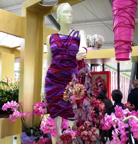 Purple dress with orchids at Keukenhof - by Zoe Dawes