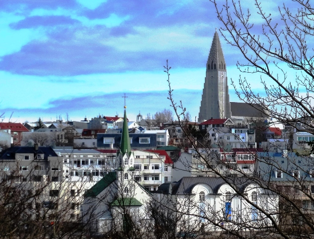 Reykjavik city and Hallgrims church