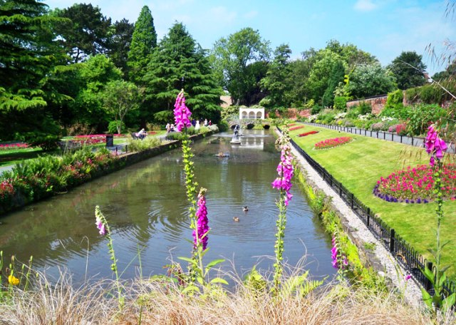 Canal Gardens, Roundhay Park, Leeds, Yorkshire