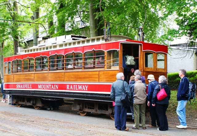 Snaefell Mountain Railway at Laxey - Isle of Man photo by Zoe Dawes