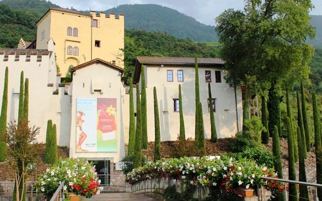 Entrance to Trauttmansdorff Castle Gardens , South Tyrol, Italy - image Zoe Dawes