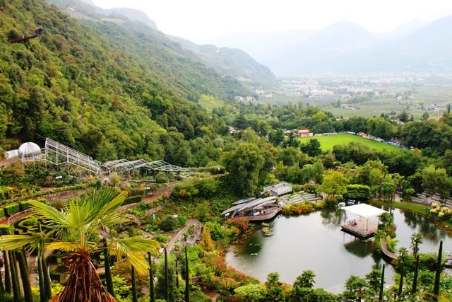 Trauttmansdorff  Gardens panorama, South Tyrol - image Zoe Dawes