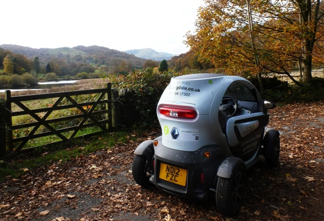 Renault Twizy in the Langdale Valley, Lake District - Autumn