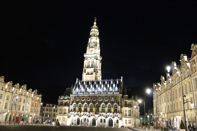 Arras Bell Tower at night