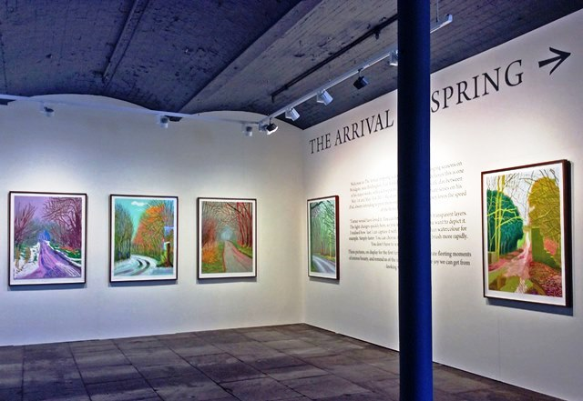 The Arrival of Spring Hockney Salts Mill Saltaire - photo zoe dawes