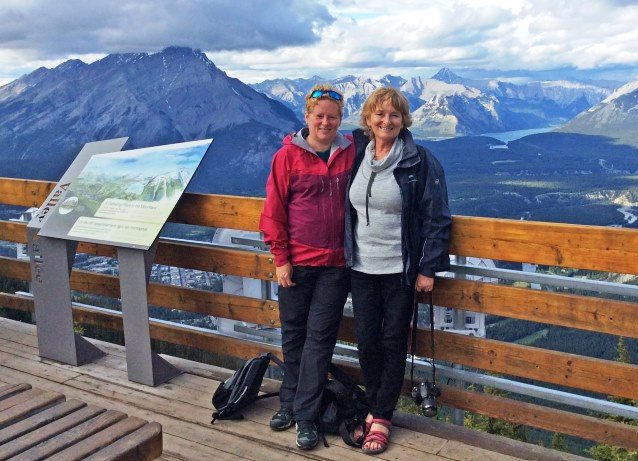 At the top of Sulphur Mountain, Banff Canada