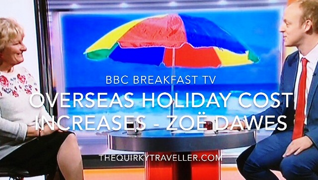 BBC Breakfast TV with Zoe Dawes aka The Quirky Traveller