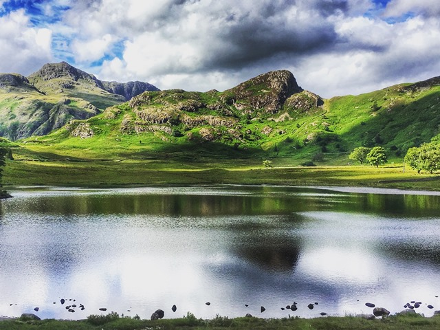 Blea Tarn Langdale Valley in the Lake District World Heritage site - photo Zoe Dawes