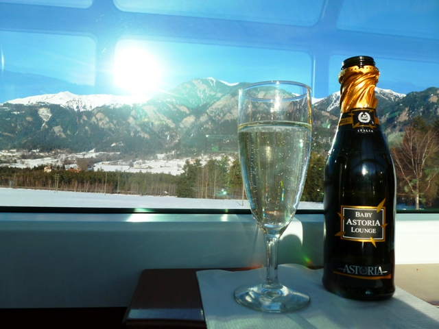 Cheers from the Glacier Express