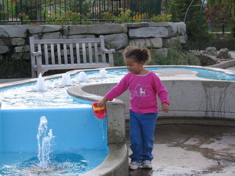 Playing with the water