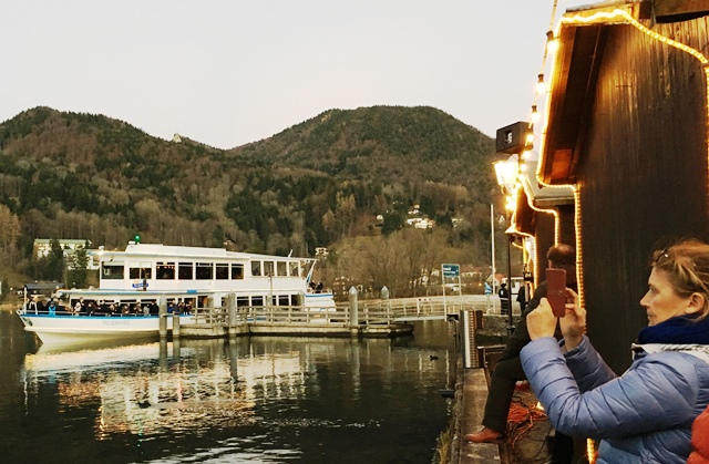 Tegernsee Ferry for Christmas Market Bavaria