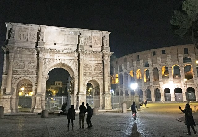 The Colosseum at night - 48 hours in Rome