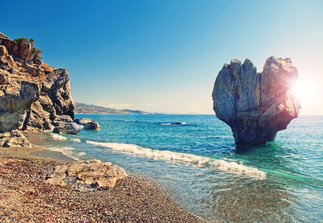 Beach in Crete, Greece
