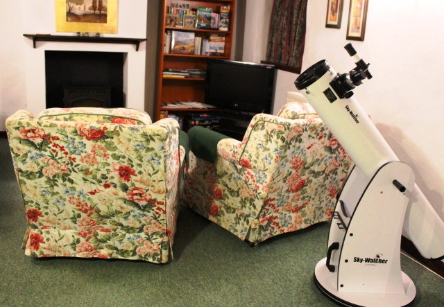 Telescope in Upton Cottage - West Withy Farm Exmoor