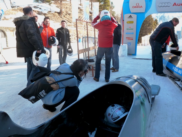 Bobsleigh run St Mortitz - by Zoe Dawes