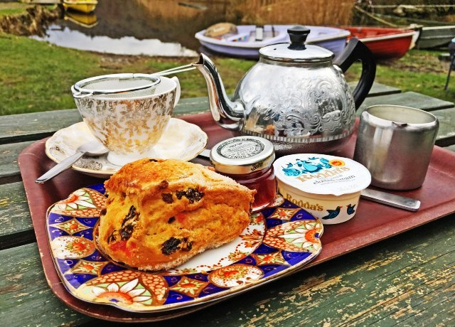 Faeryland tea and scones beside Grasmere Lake District - photo zoe dawes