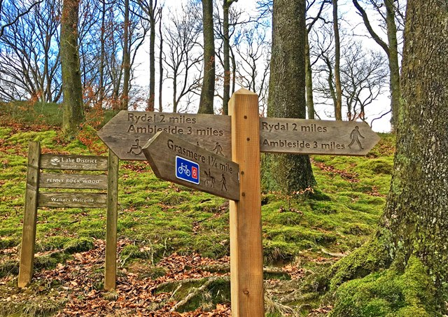 Lake District Walking sign