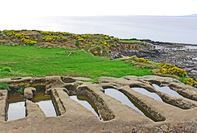 Stone graves at Heysham overlooking Morecambe Bay