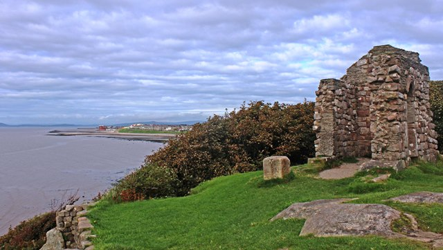 St Patrick's Chapel at Heysham towards Morecambe Lancashire