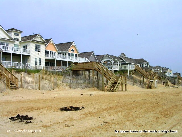 Nags Head beach houses, North Carolina, USA